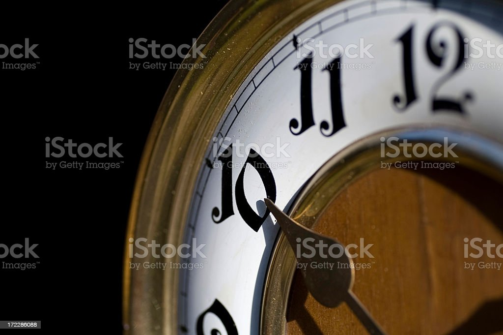 Antiques, The clock royalty-free stock photo