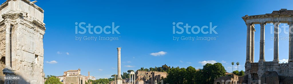 Antiquities of the Forum, Rome royalty-free stock photo