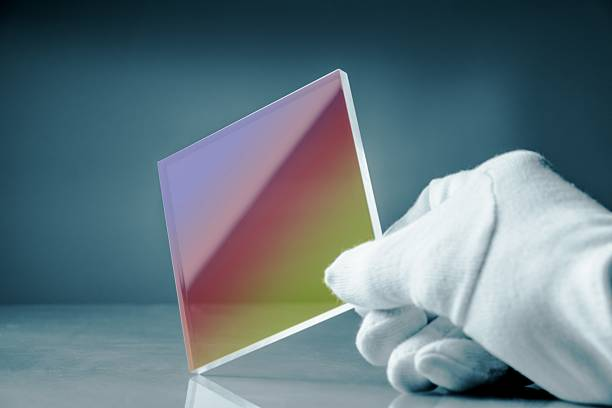 anti-reflective glass with an optical interference coating - graphene stock photos and pictures