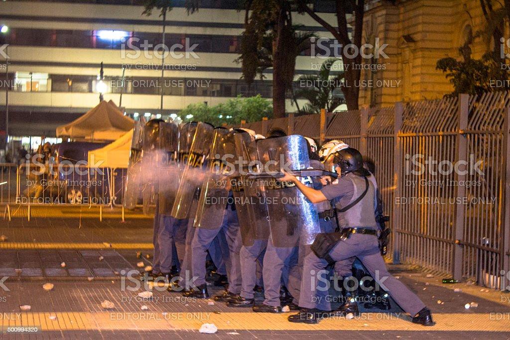 Forças policiais de prevenção - foto de acervo