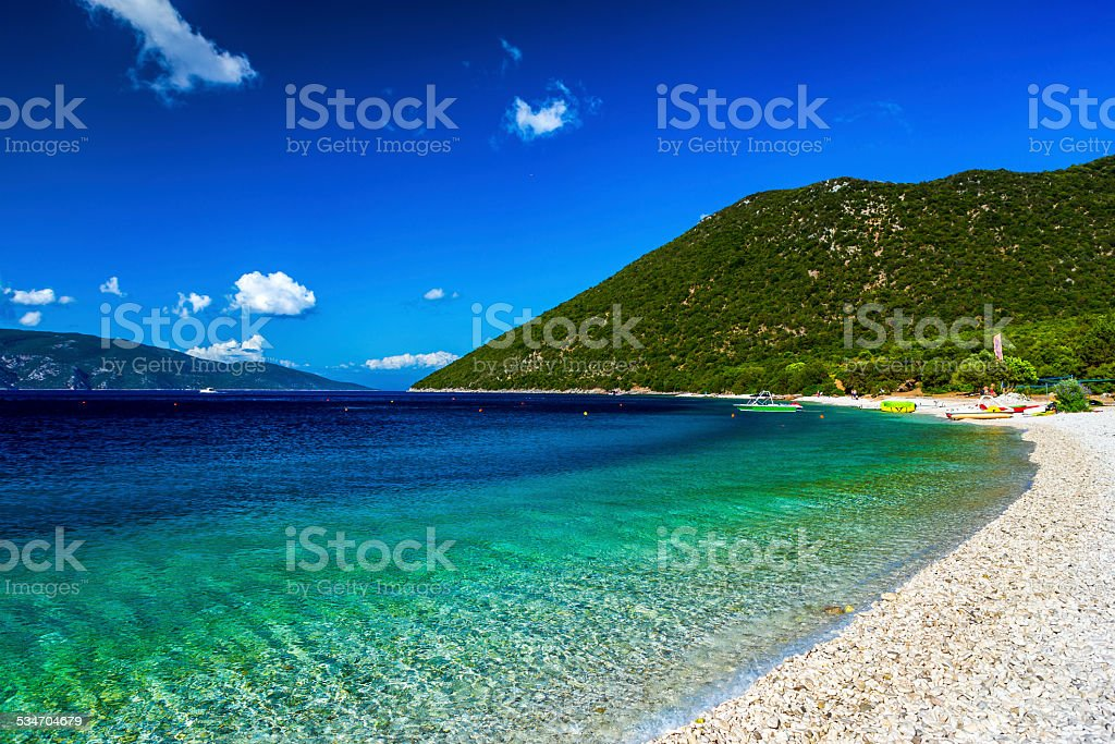 Antisamos Beach Kefalonia stock photo