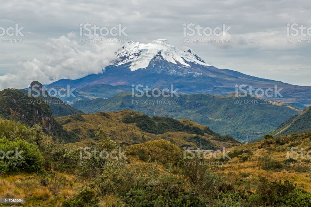 Antisana Volcano Landscape in Ecuador stock photo