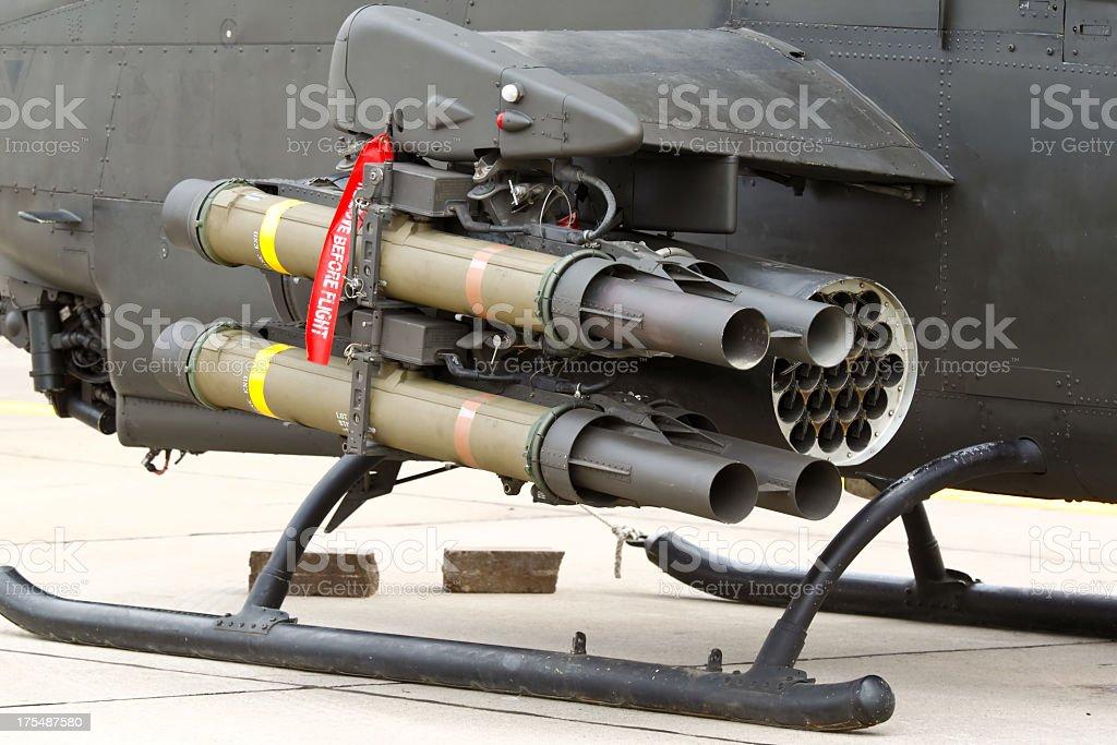 Anti-tank missile stock photo