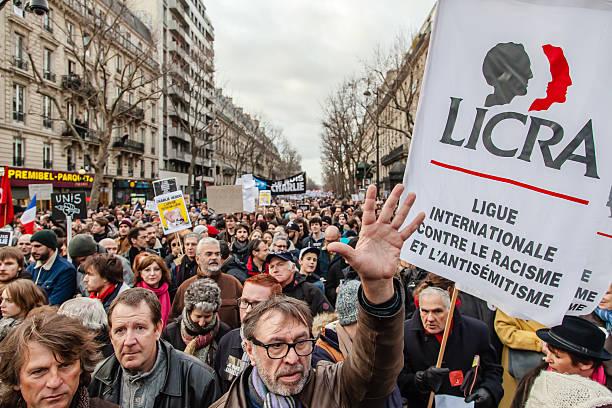Anti-terrorism rally in Paris stock photo