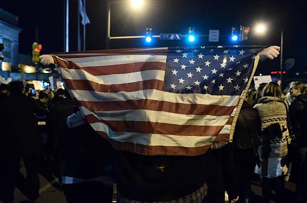 anti-trump protest following u.s. elections in philadelphia, pa - donald trump us president стоковые фото и изображения