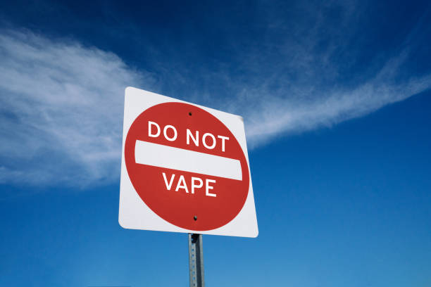 anti-vaping or e-cig sign concept - fda stock photos and pictures