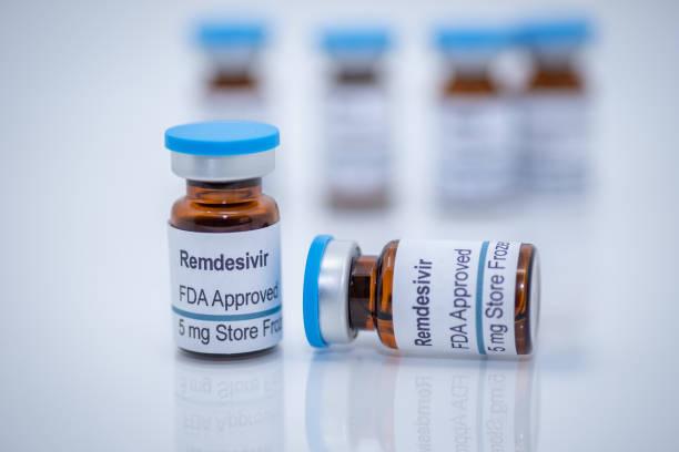 Antiviral drug remdesivir FDA approved for treatment of novel coronavirus covid-19 stock photo