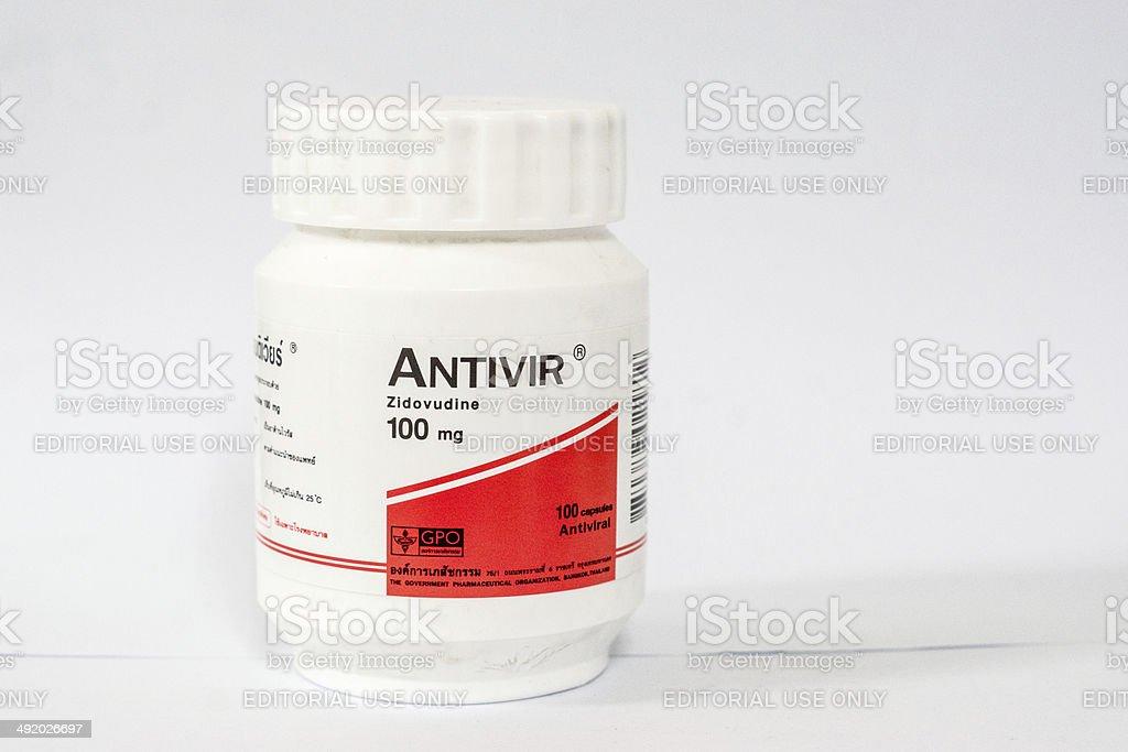 antiviral medicine stock photo