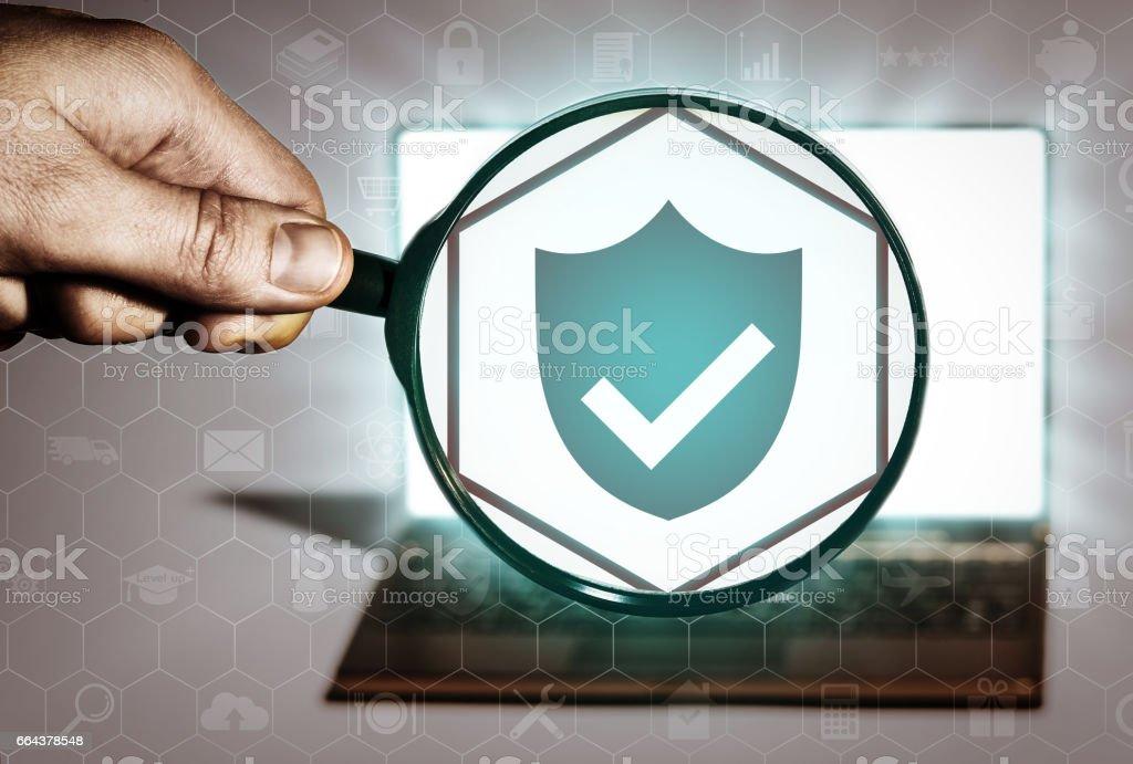 Antivirus, hacker protection. stock photo