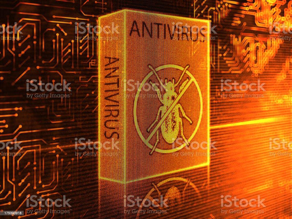 Antivirus Software (Gold) stock photo