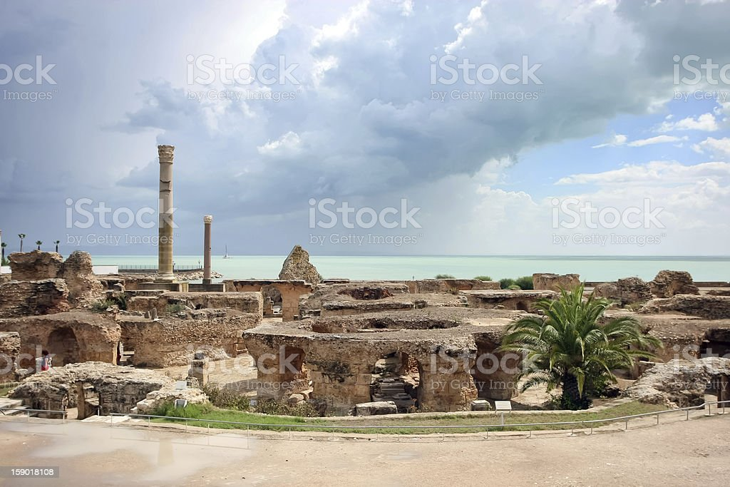 Antonine Baths, Carthage stock photo