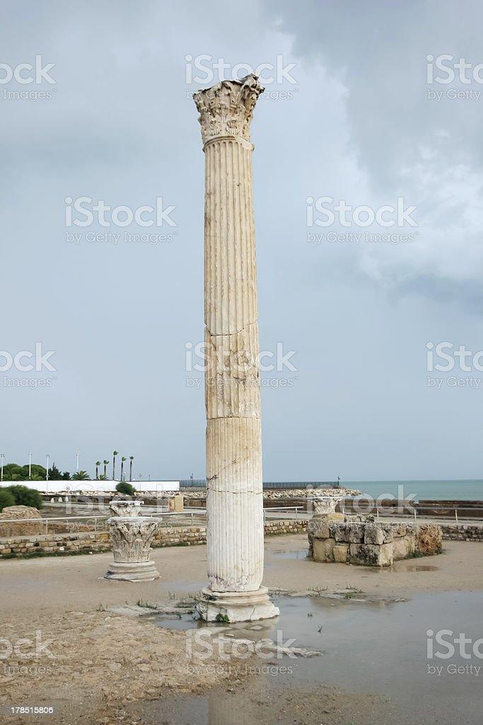 Antonine Baths roman column royalty-free stock photo