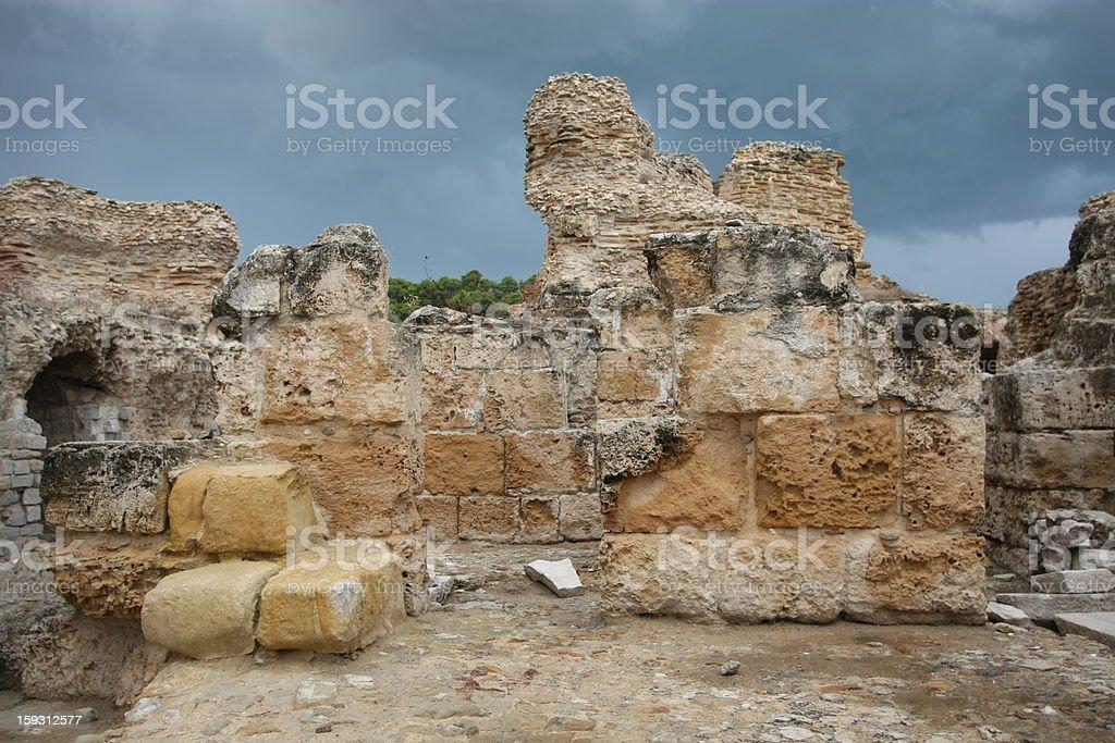 Antonine Baths wall royalty-free stock photo