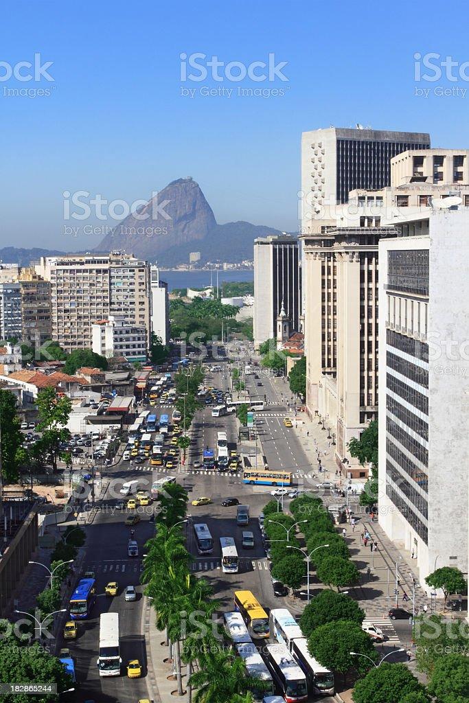 Antonio Carlos Avenue in Rio de Janeiro royalty-free stock photo