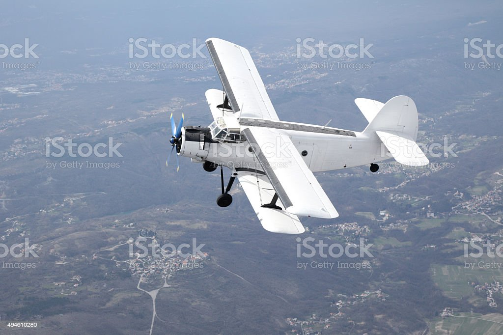 Antonov 2 biplane stock photo