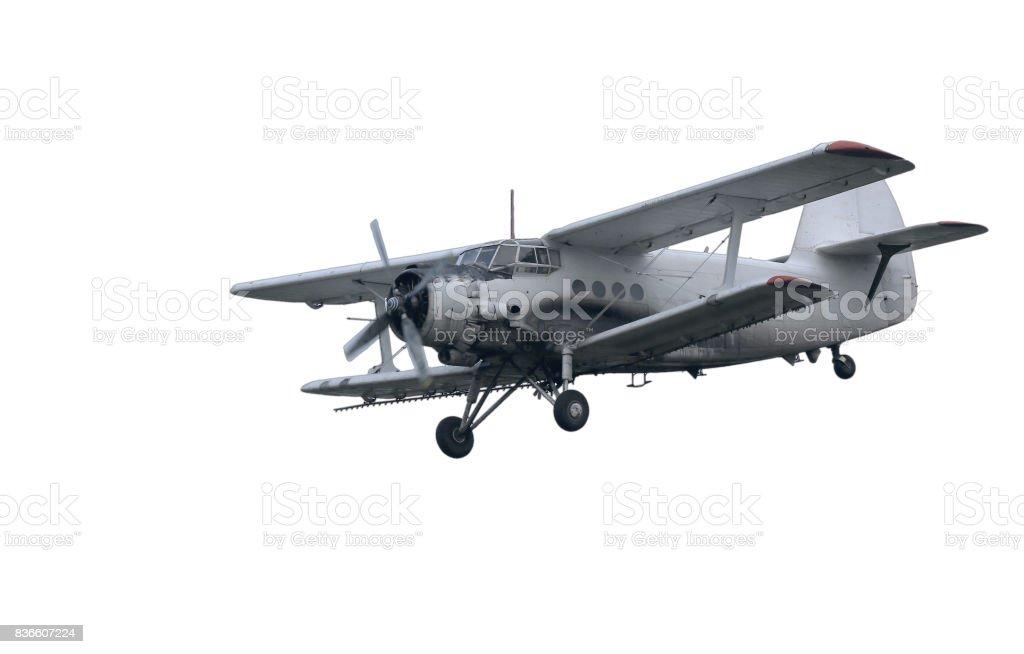 Antonov 2 isolated on white stock photo
