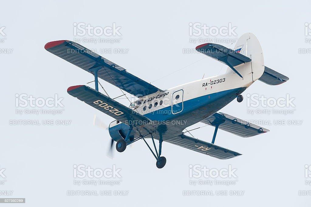 antonov an 2 airplane stock photo