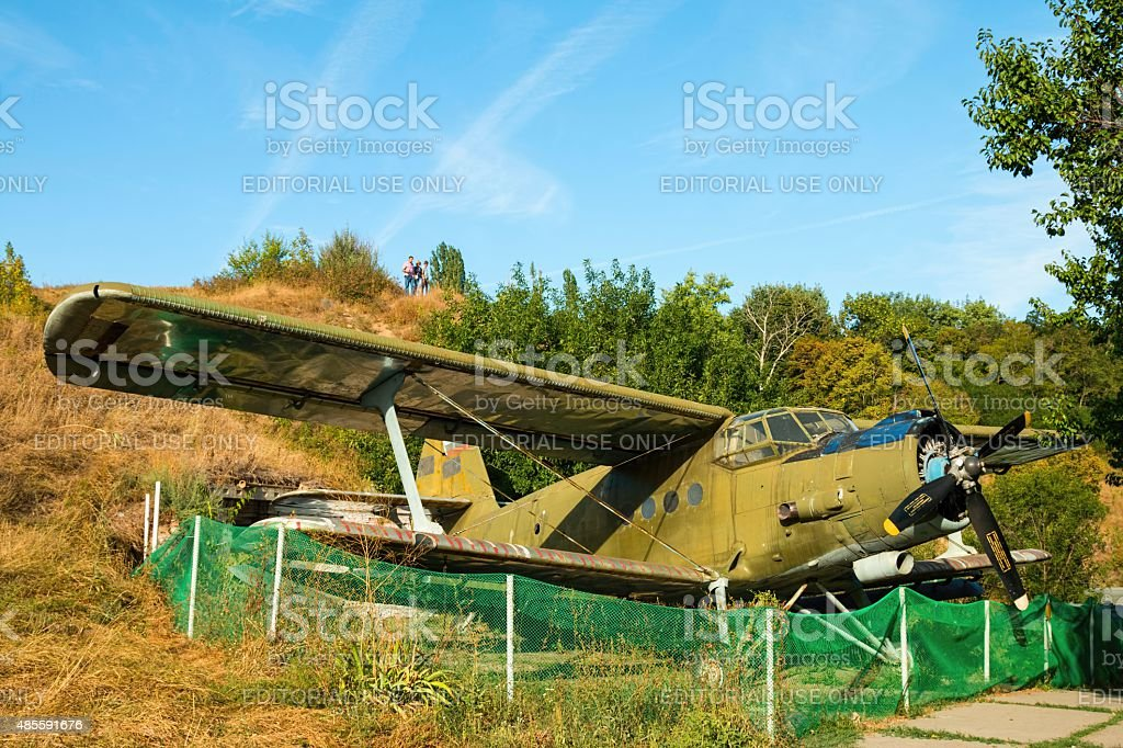 Antonov An-2 biplane. stock photo