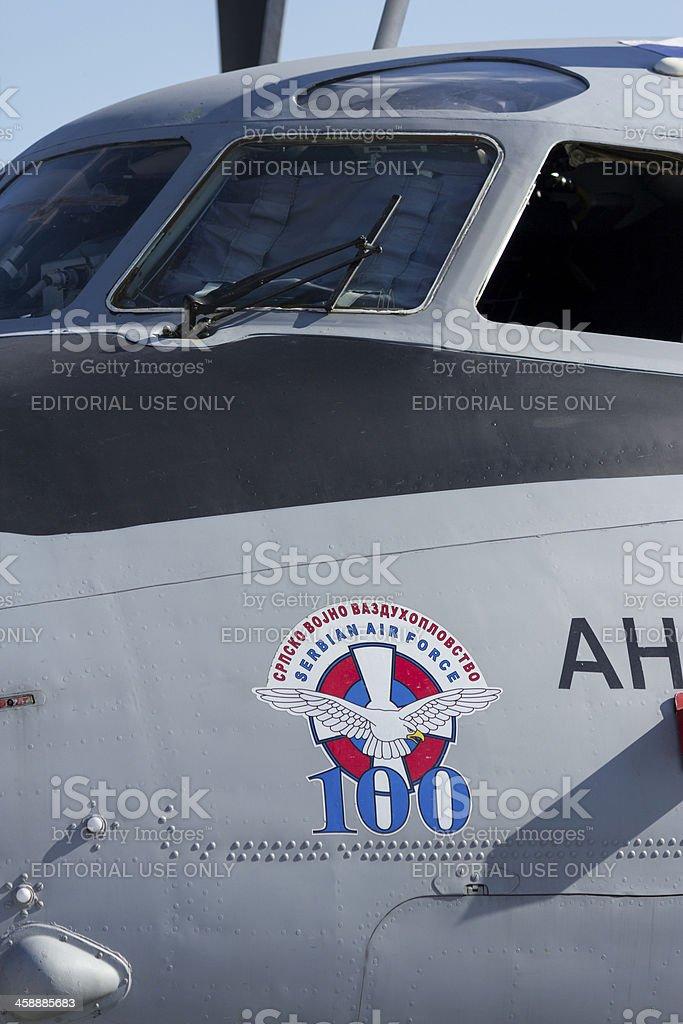 Antonov transport plane royalty-free stock photo