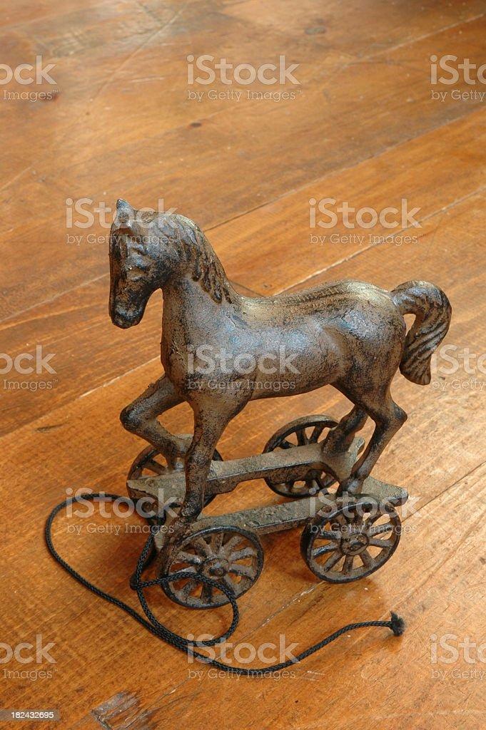 Antque Toy Pull Horse stock photo