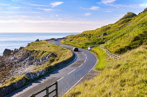 istock Antrim Coastal Road in Northern Ireland, UK 521036396