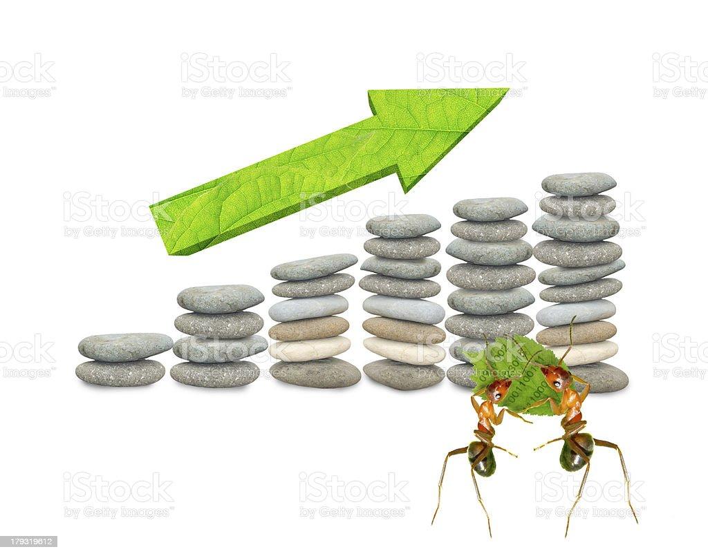 Ants Finance Statistics stock photo