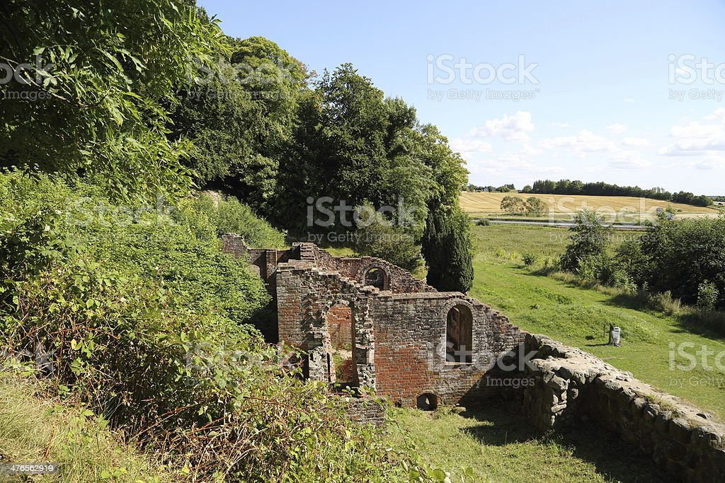 Antvorskov Castle and monastery Ruin, Denmark royalty-free stock photo
