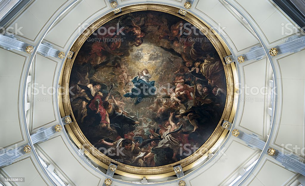 Antwerp – Cathedral of Our Lady, Interior. royalty-free stock photo