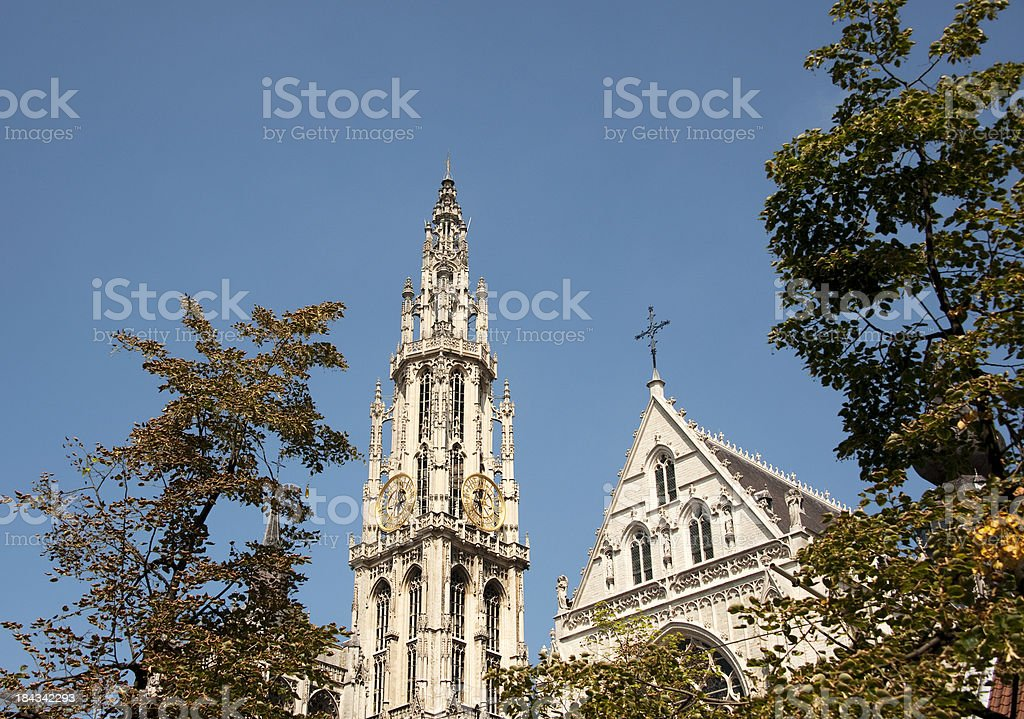 Antwerp – Cathedral of Our Lady royalty-free stock photo