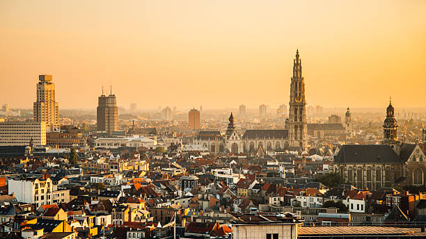 Antwerp au coucher du soleil - Photo