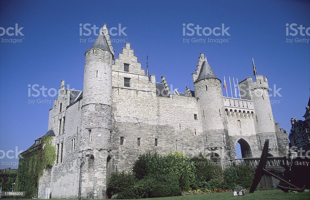 """Antwerp Castle """"The ancient stone castle of Antwerp, Belgium.  For more images like this one, view my"""" Ancient Stock Photo"""