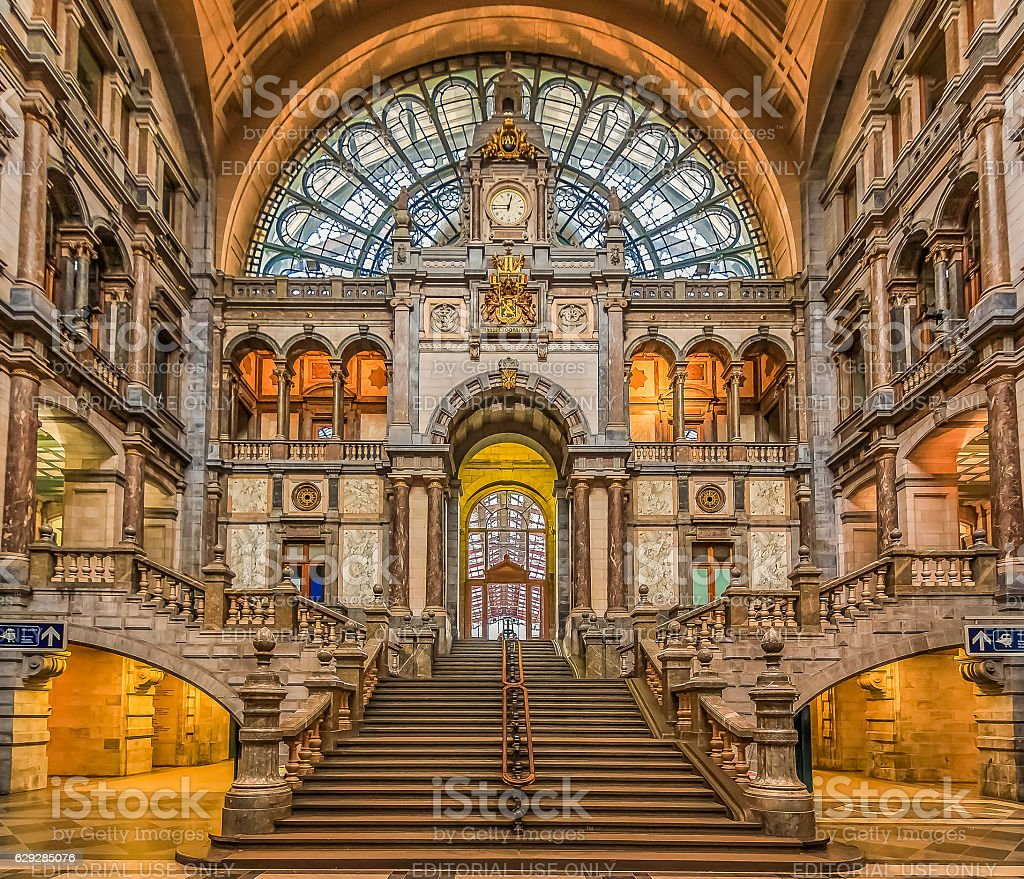 Antwerp Central Train Station in Belgium - Photo
