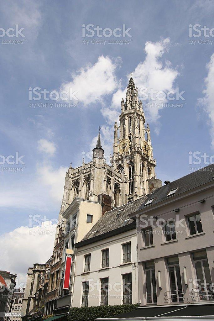 Antwerp Church Tower royalty-free stock photo