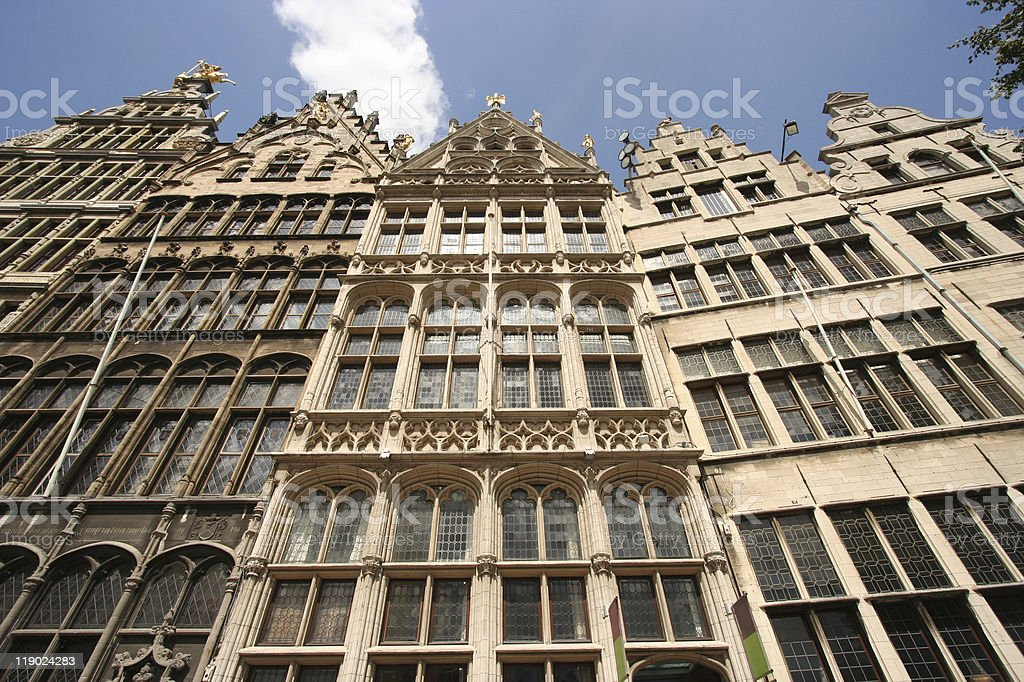 Antwerp Gables royalty-free stock photo