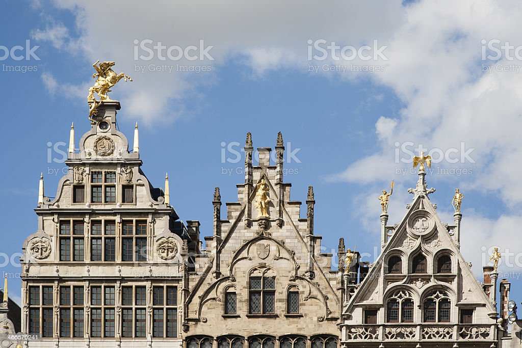 Antwerp Guild houses stock photo