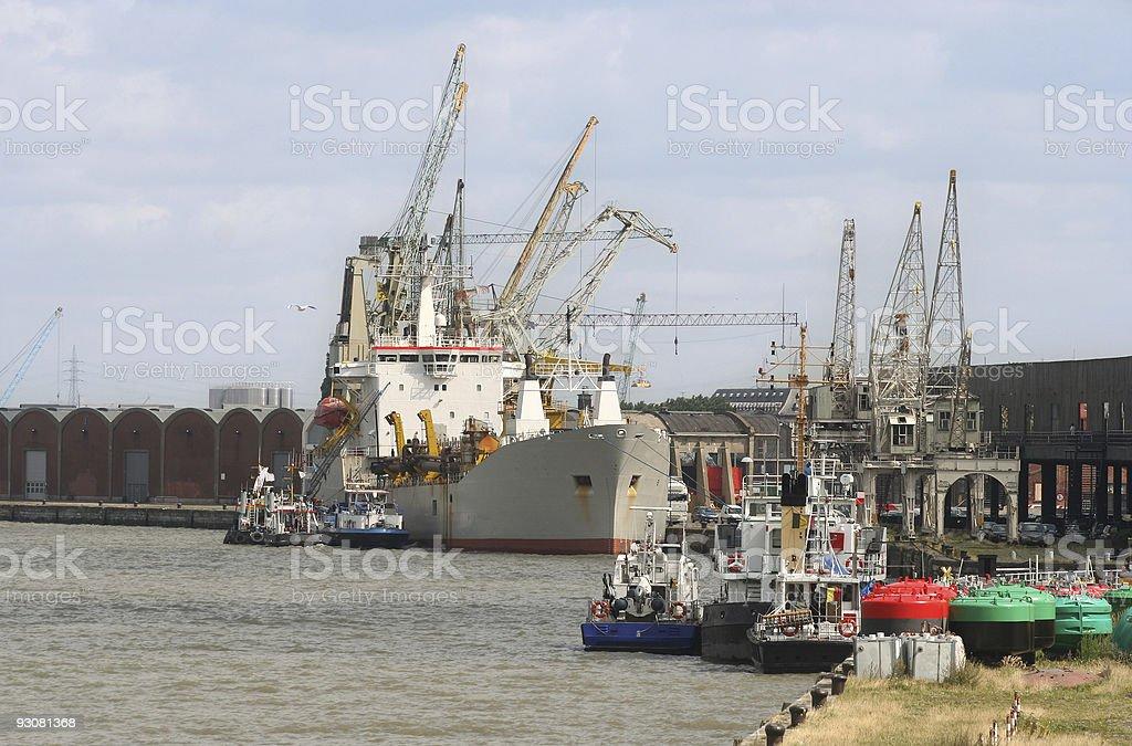 Antwerp Harbor royalty-free stock photo