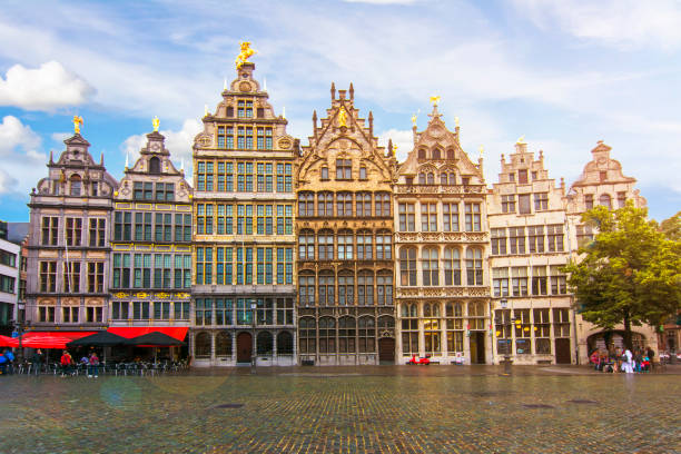 Antwerp market square, Belgium Antwerp market square, Belgium belgium stock pictures, royalty-free photos & images