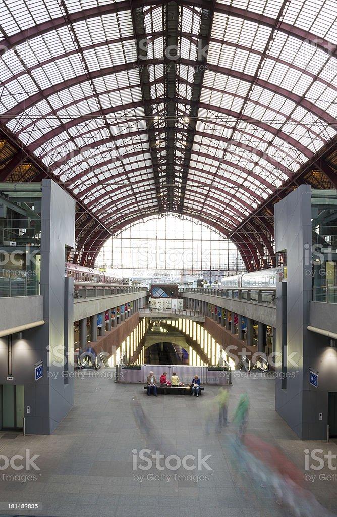 Antwerp Railway Station royalty-free stock photo