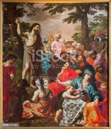 istock Antwerp - Sermon of st. John the Baptist in cathedral 459242431