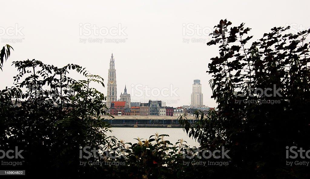 Antwerp skyline royalty-free stock photo