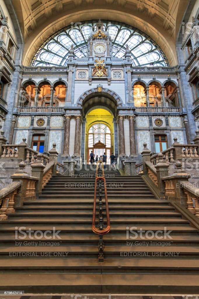Antwerp CS stairs royalty-free stock photo