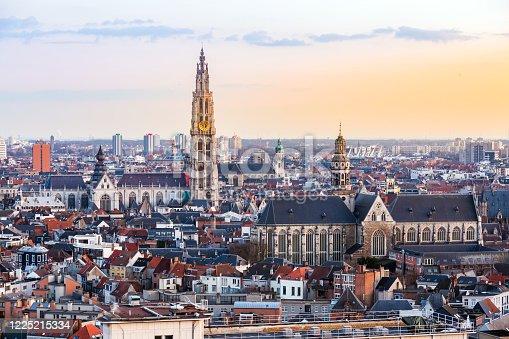 istock Antwerp sunset 1225215334