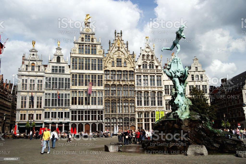 Antwerp: The Town Square (Grote Markt) stock photo