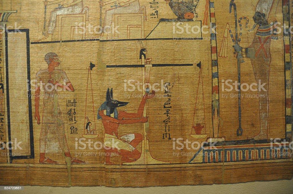 Anubis and Osiris stock photo