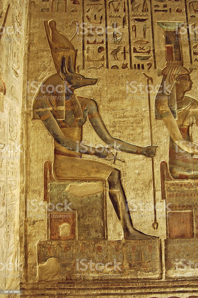 Anubis painting royalty-free stock photo