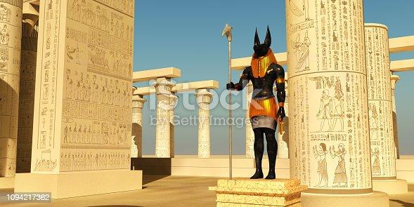 istock Anubis Statue in Temple 1094217362