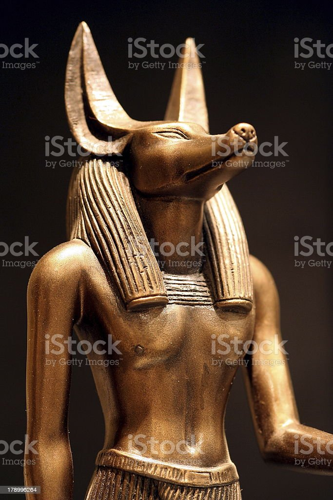 Anubis Statue stock photo