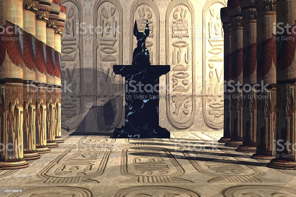 Anubis Temple royalty-free stock photo