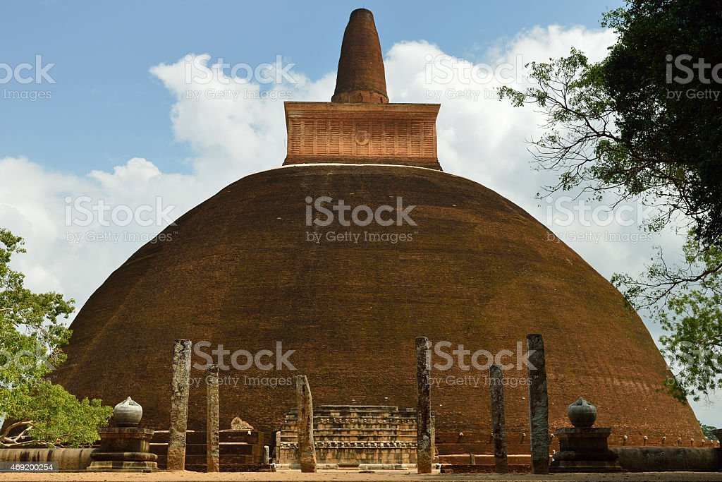 Anuradhapura ruin, Adhayagiri dagoba, Sri Lanka stock photo
