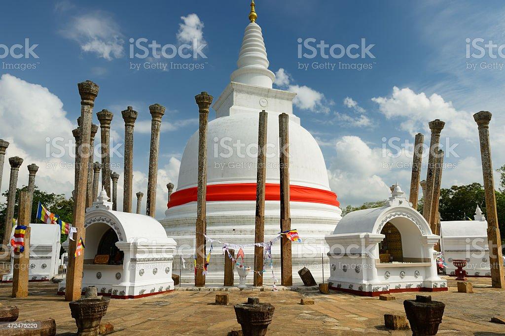 Anuradhapura ruin, Thuparamaya dagoba, Sri Lanka stock photo